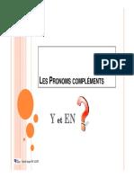 pronoms EN et Y