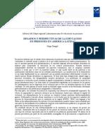 Desafios y Perspectivas de La Educacion en Prisiones en America Latina