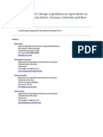 Impacts of Climate Change Legislation on Agriculture in the Rocky Mountain States