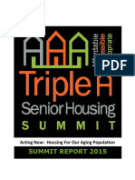Triple a Senior Housing Summit Report 2015