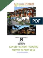 Langley Senior Housing Survey Report 2015
