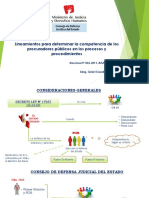 Lineamientos para  determinar la Competencia de los Procuradores Públicos