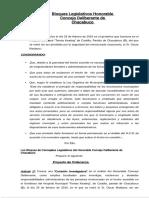 Proyecto de creación de Comisión Investigadora por los Hechos del Hospital de Castilla