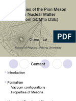Properties of the Pion Mesonin Nuclear Matter(From GCM to DSE)