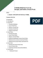 Social Work Unit-1