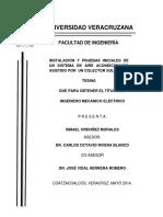 Instalacion y Pruebas Iniciales de Un Sistema de Aire Acondicionado Asistido Por Un Colector Sola