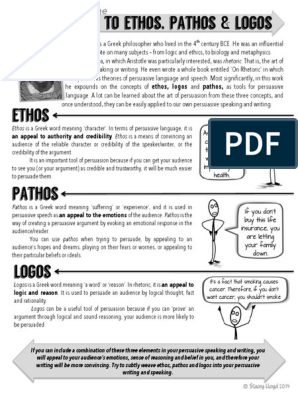ethos-pathos-logos-definitions-and-worksheet | Persuasión
