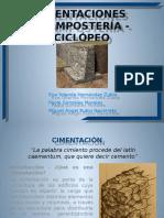 Cimentaciones Mampostería y Ciclópeo