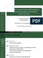 Cálculo de la sección eficaz diferencial
