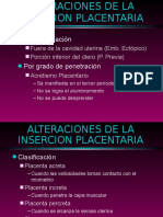 Alteraciones de La Insercion Placentaria