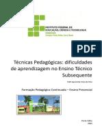 Apostila - Formação Pedagógica Continuada - Ensino Presencial Ifro - 2015