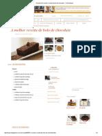 Receita de a Melhor Receita de Bolo de Chocolate - Tudo Gostoso