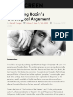 Re-reading Bazin's Ontological Argument – Offscreen