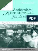 Modernism, Romance and Fin de Siécle
