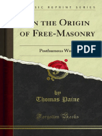 On the Origin of Free-Masonry