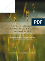 Conflicto y Cooperacion manejo Recursos Naturales