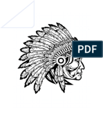 Native American Indian Coloring Page