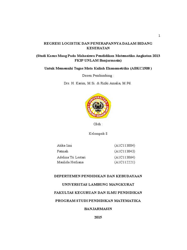 Analisis Regresi Logistik Ordinal Dan Analisis Regresi Logistik Multinomial Terhadap Faktor Yang Mempengaruhi Perpindahan Churn Pelanggan Pdf Free Download