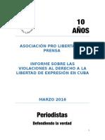 Periodismo y Libertad de Expresión Después Del 17 de Diciembre de 2014 En Cuba - APLP