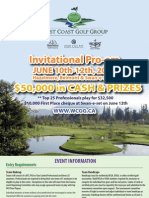 2010 West Coast Golf Group Pro-Am Poster