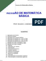 Resumo de Matemática Básica