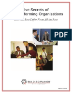 Five Secrets of High Performing Organizations