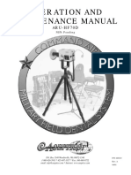 Aseptico ARU-HF70 Field Dental X-Ray - Maintenance Manual