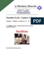 Parasha No.24 Vaykra Sacrificios