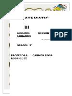CARATULA DEL CURSO DE MATEMATICA