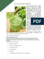 Cinco Receitas de Suco Verde