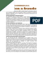 ELECCIONES 2016 Huele a Fraude (1)