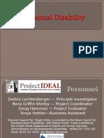 presentation intellectual disabilities