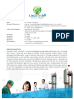 Background on LanzaTech 2-Pager-2015