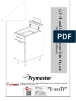 Frymaster GF14 Service & Parts Manual