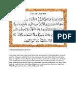 Arti Dan Terjemahan Ayat Kursi