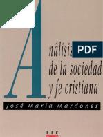 Mardones Jose Maria - Analisis de La Sociedad Y La Fe Cristiana