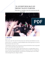 Council Overturns Ban on Electronic Dance Parties (May 8, 2014)