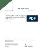 Correlations Between Index Properties and Unconfined Compressive
