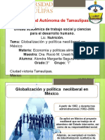 Economia y Globalización y política neoliberal en México Alimentarias.