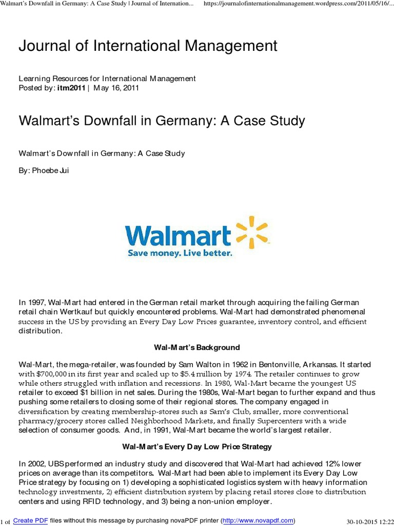 walmart case study harvard solution
