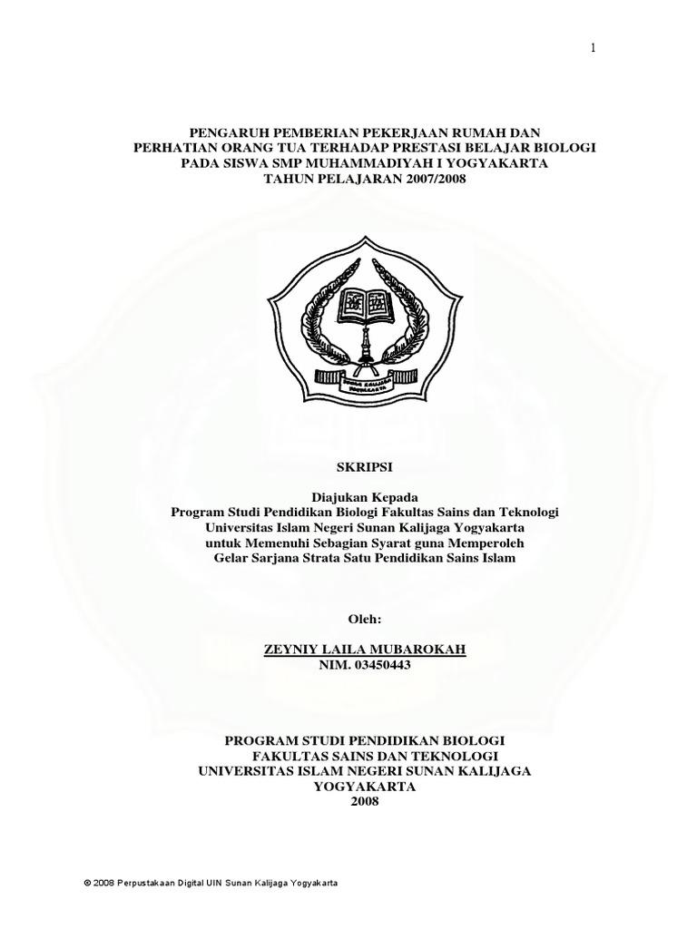 Skripsi Pendidikan Biologi
