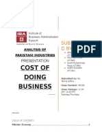 Cost of Doing Business in Pakistan