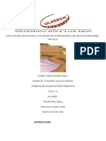 Investigacion Formativa III Unidad Odontopediatria
