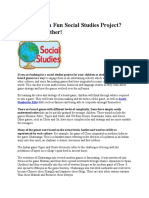 Looking for a Fun Social Studies Project