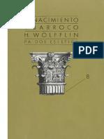 Wolfflin Heinrich Renascimiento y Barroco