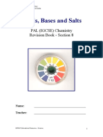 Section 8 - Acids, Bases and Salts