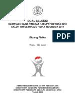 Soal Pembahasan OSN Kabupaten Fisika 2013 PDF