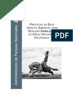 PRÁCTICAS DE BAJO IMPACTO AMBIENTAL PARA REALIZAR CABALGATAS EN ÁREAS NATURALES PROTEGIDAS