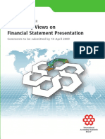 Preliminary Views on Financial Statements Presentation