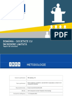 ROMÂNIA –SOCIETATE CU ÎNCREDERE LIMITATĂ. Raport de cercetare elaborat de IRES